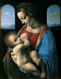 «Мадонна с младенцем» Леонардо да Винчи