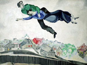 «Над городом» М.Шагала