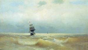 Картина И.К. Айвазовского «Корабль у берега»