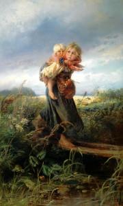 Описание картины «Дети, бегущие от грозы» К.Маковского