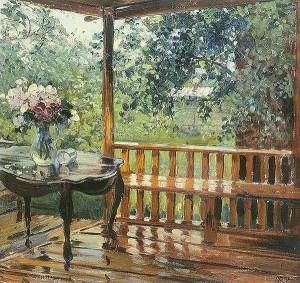 После дождя. Сочинение о картине А. Герасимова