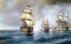 Сочинение по картине И.К. Айвазовского «Бриг «Меркурий», атакованный двумя турецкими судами»