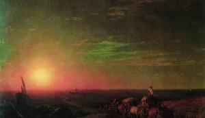 Сочинение по картине И.К. Айвазовского «Обоз чумаков»