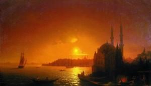 Сочинение по картине И.К. Айвазовского «Вид Константинополя при лунном освещении»
