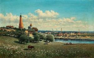 Вид Симонова монастыря близ Москвы. Описание картины Маковской