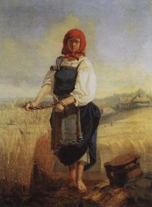 Жница. Описание картины Васнецова