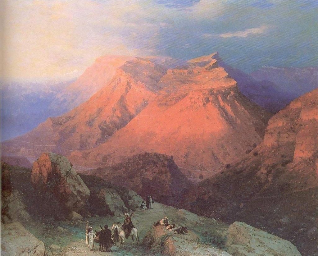 Аул Гуниб в Дагестане