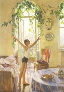 картины «Утро» Т. Яблонской