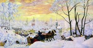 картины Бориса Кустодиева «Масленица»