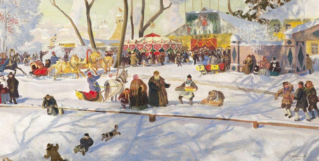 Сочинение-описание картины Кустодиева «Масленица»