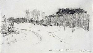 «Зимняя дорога в лесу»