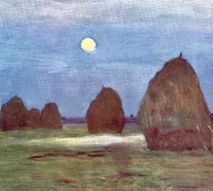 Сумерки. Стога - Исаак Ильич Левитан. 1899