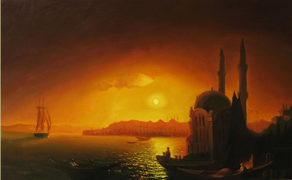 И. К. Айвазовского «Вид Константинополя при лунном освещении»