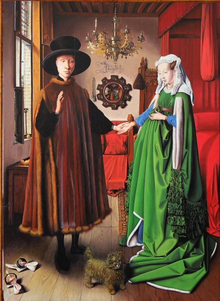 Картина «Портрет четы Арнольфини» Ян ван Эйк