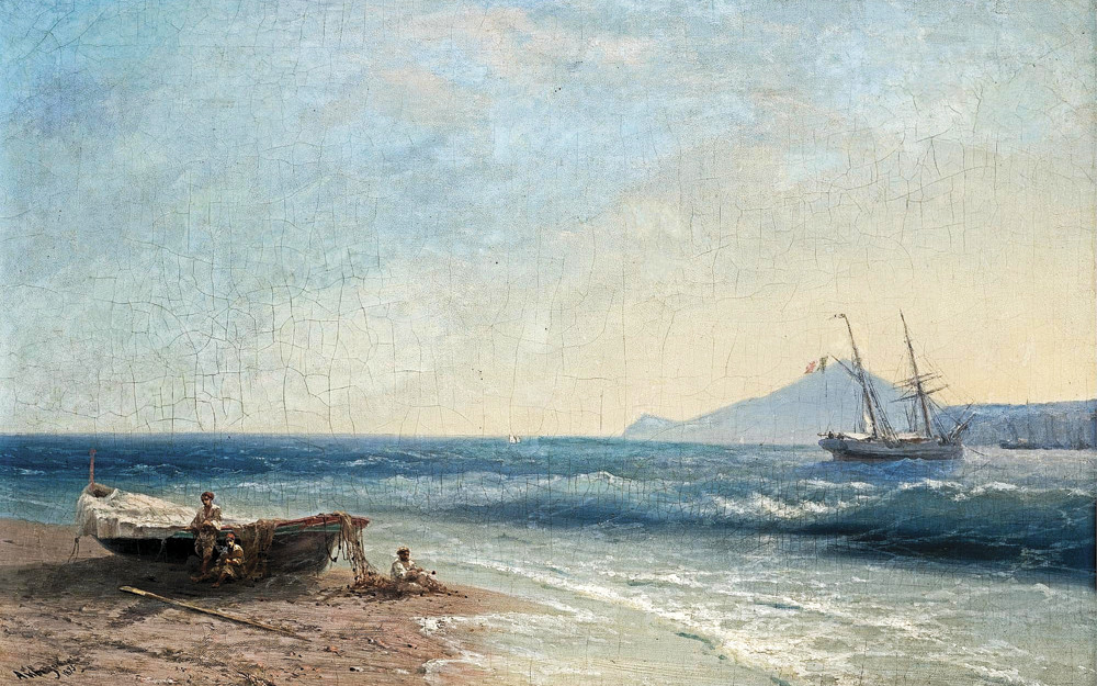 Айвазовский Иван - Рыбаки на берегу моря