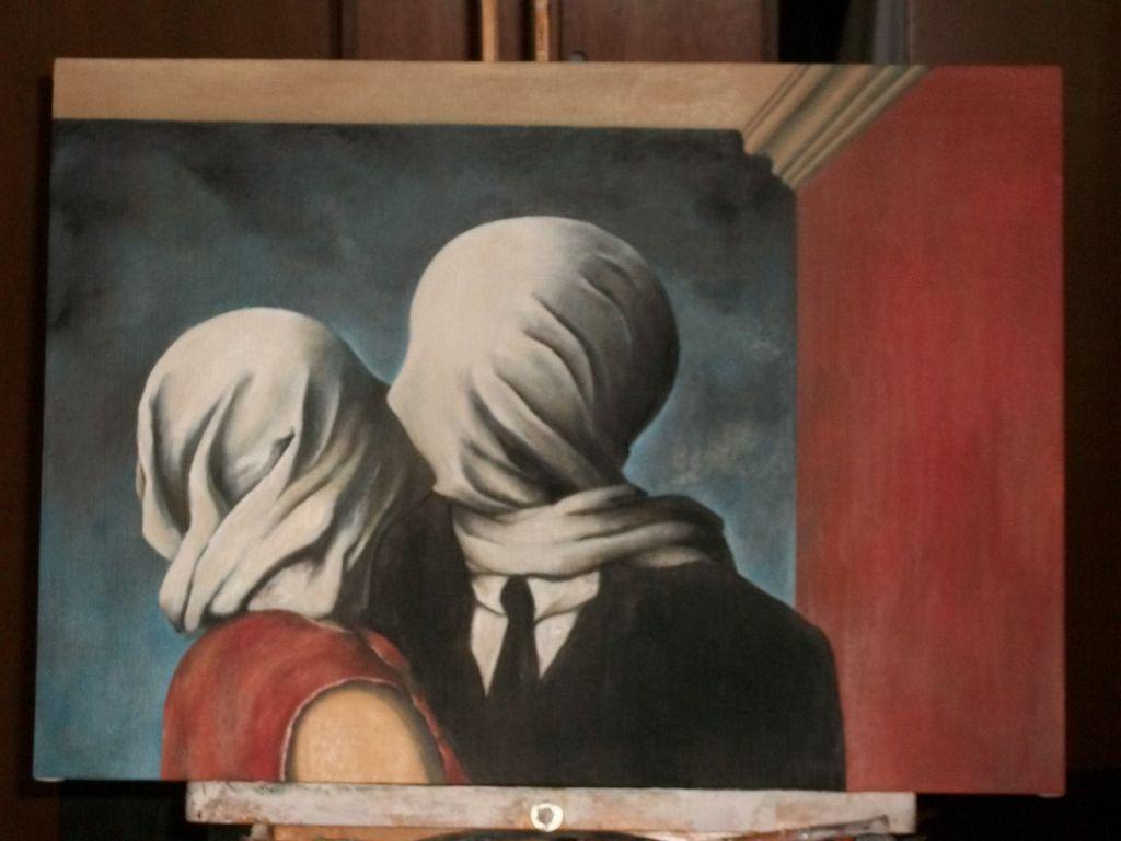 Картина Рене Магритт «Влюбленные»