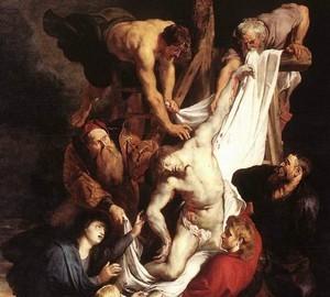 Картина Снятие с креста, Рубенс, 1612