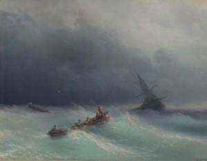 Сочинение по картине «Буря на море Ивана Айвазовского»