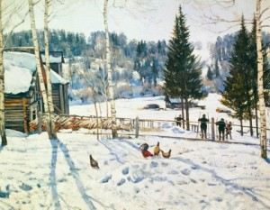 Сочинение по картине «Конец зимы Полдень Константина Юона»