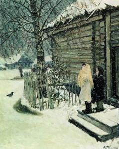Сочинение по картине «Первый снег Аркадия Пластова»