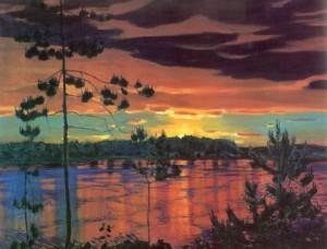 Сочинение по картине «Закат Аркадия Рылова»