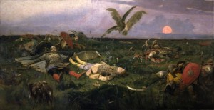 В.М. Васнецов «После побоища Игоря Святославича с половцами»