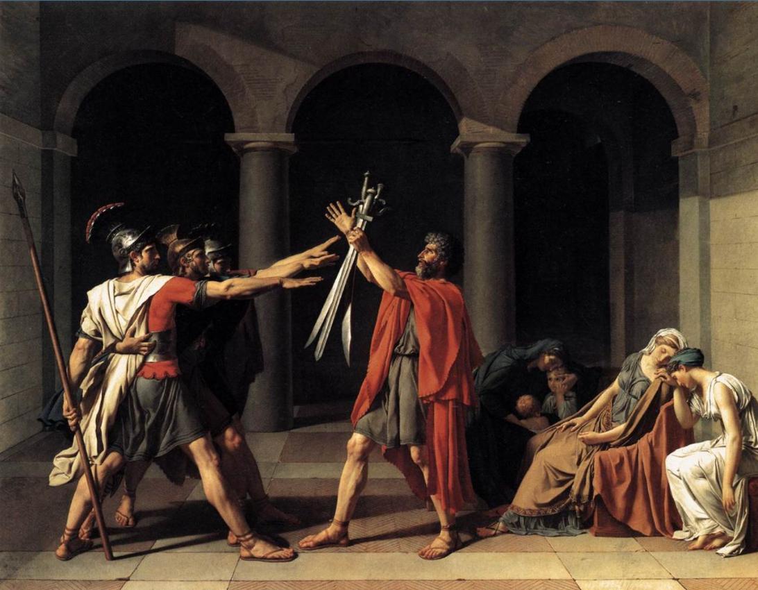 «Андромаха» и «Клятва Горациев»