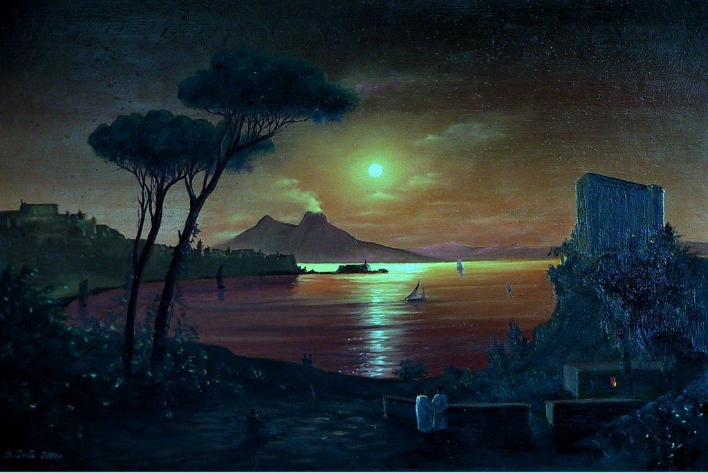 Картина Айвазовского «Неаполитанский залив в лунном свете»