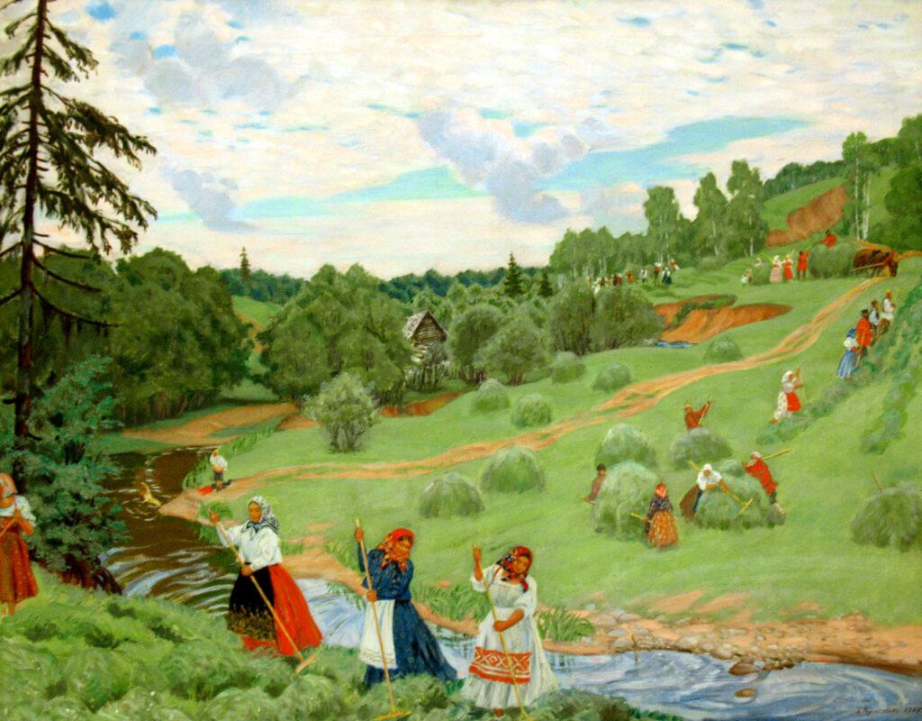 Картина Бориса Кустодиева «Сенокос»