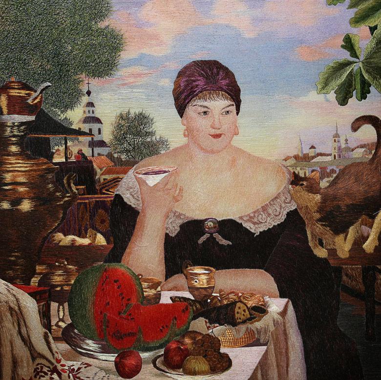 Купчиха за чаем (Борис Кустодиев)