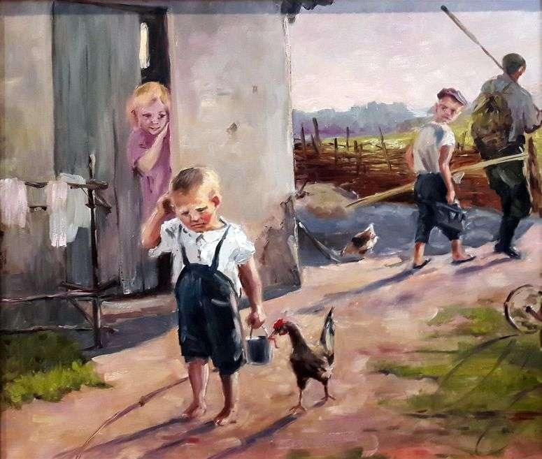 Сочинение по картине «Не взяли на рыбалку»