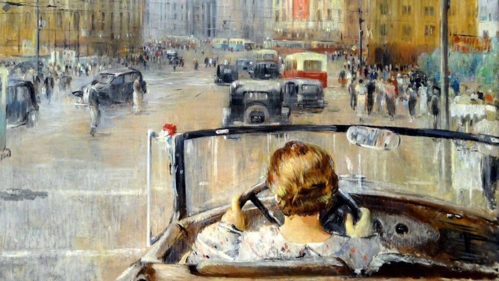 Сочинение по картине «Новая Москва Юрия Пименова»