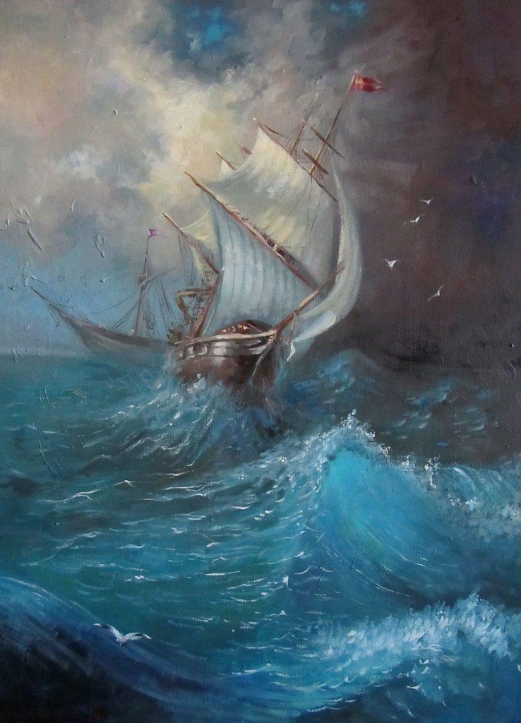 Айвазовский Иван - Буря на Ледовитом океане