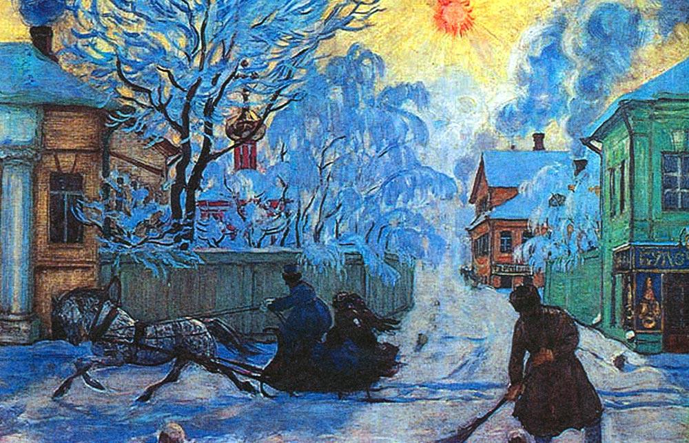 Картина Бориса Кустодиева «Морозный день»