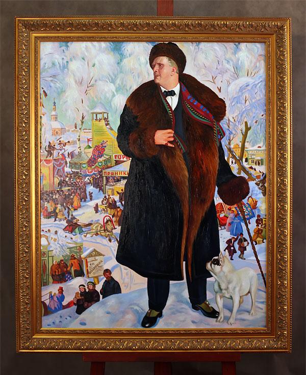 Картина Бориса Кустодиева «Портрет Шаляпина»