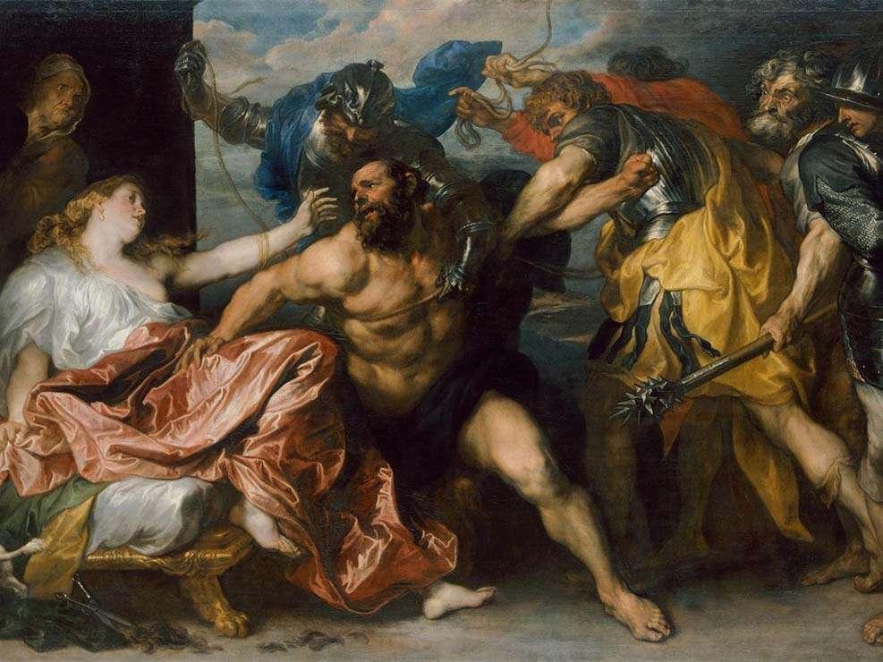 """Картина """"Самсон и Далила"""", Рубенс, 1609"""