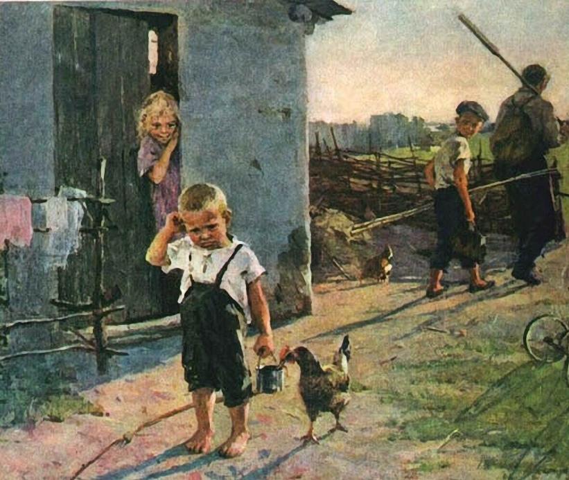 Сочинение по картине О. Поповича «Не взяли на рыбалку»