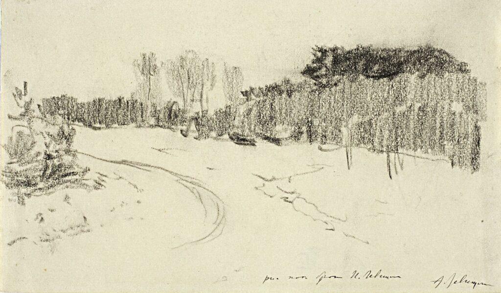 «Зимняя дорога в лесу» - Описание картины Исаака Левитана