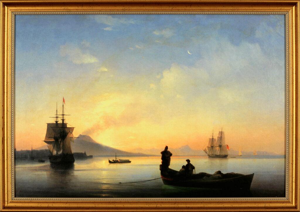 Описание картины И. К. Айвазовского «Неаполитанский залив утром»
