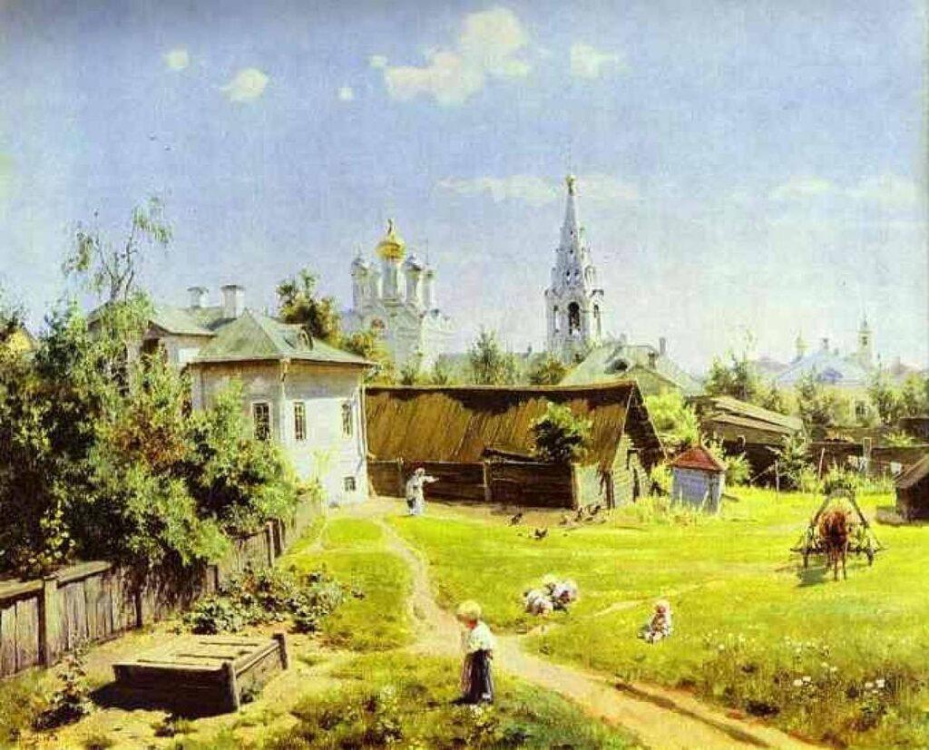 Сочинение по картине «Московский дворик Василия Поленова»