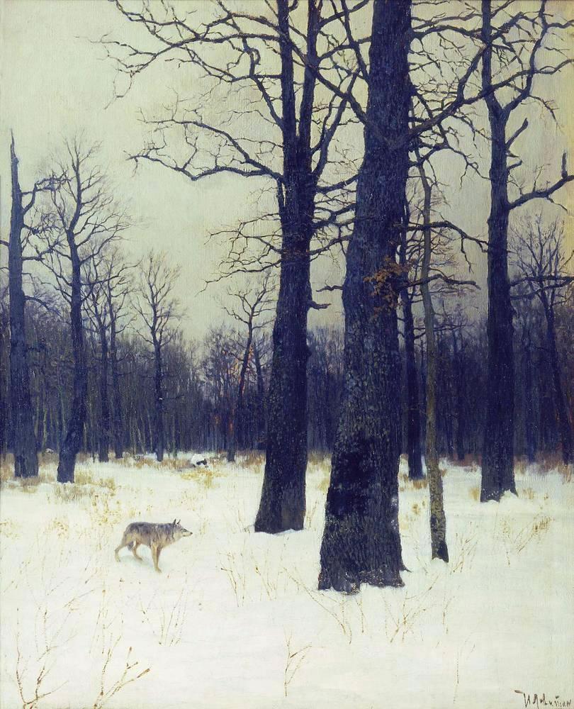 «Зимой в лесу» - Описание картины Исаака Левитана
