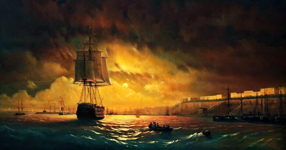 Айвазовский Иван - Одесса ночью