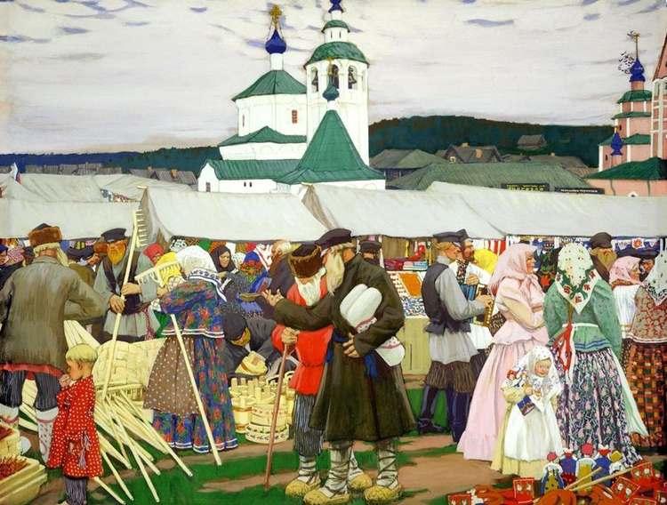 Картина Бориса Кустодиева «Ярмарка»