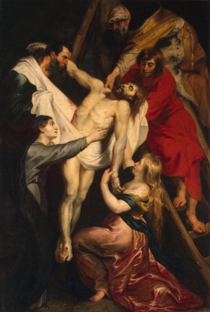 """Картина """"Снятие с креста"""", Рубенс, 1612"""