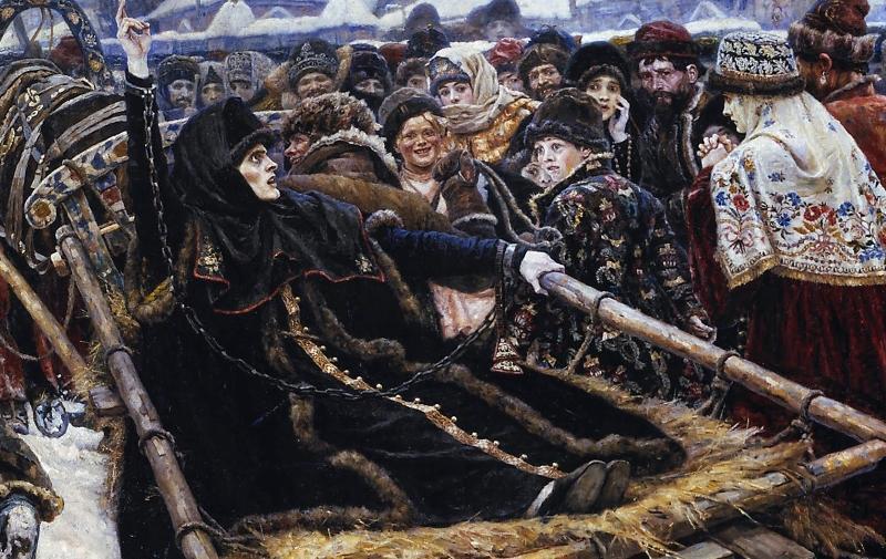 Описание картины Сурикова. Боярыня Морозова