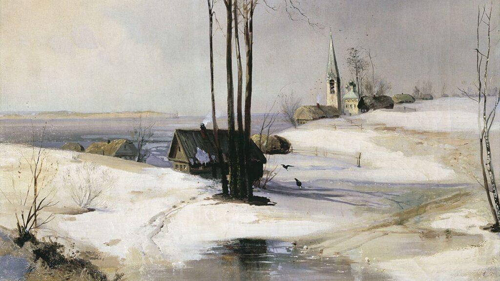 Сочинение по картине Саврасова — Оттепель
