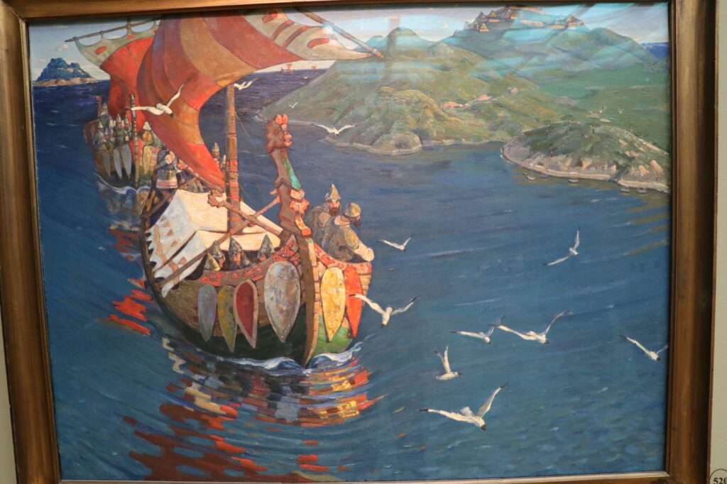 Сочинение по картине «Заморские гости Николая Рериха»