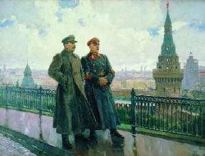 Герасимов А. - И.В. Сталин и К.Е. Ворошилов в Кремле