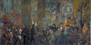 Илья Глазунов. Разгром Храма в Пасхальную ночь