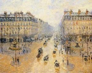 Камилл Писсарро «Оперный проезд в Париже»